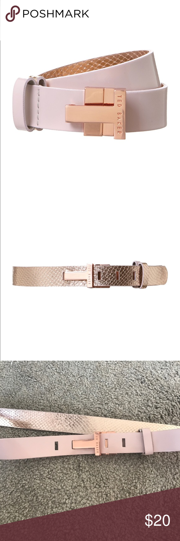 Ted baker reversible belt In great condition reversible ted baker belt. Full length 42 inches Ted Baker Accessories Belts