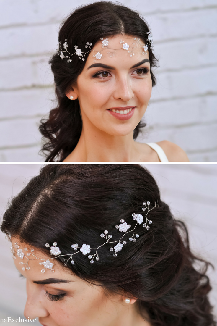 Boho Wedding Flower Crown Wedding Flower Headpiece Bridal Flower