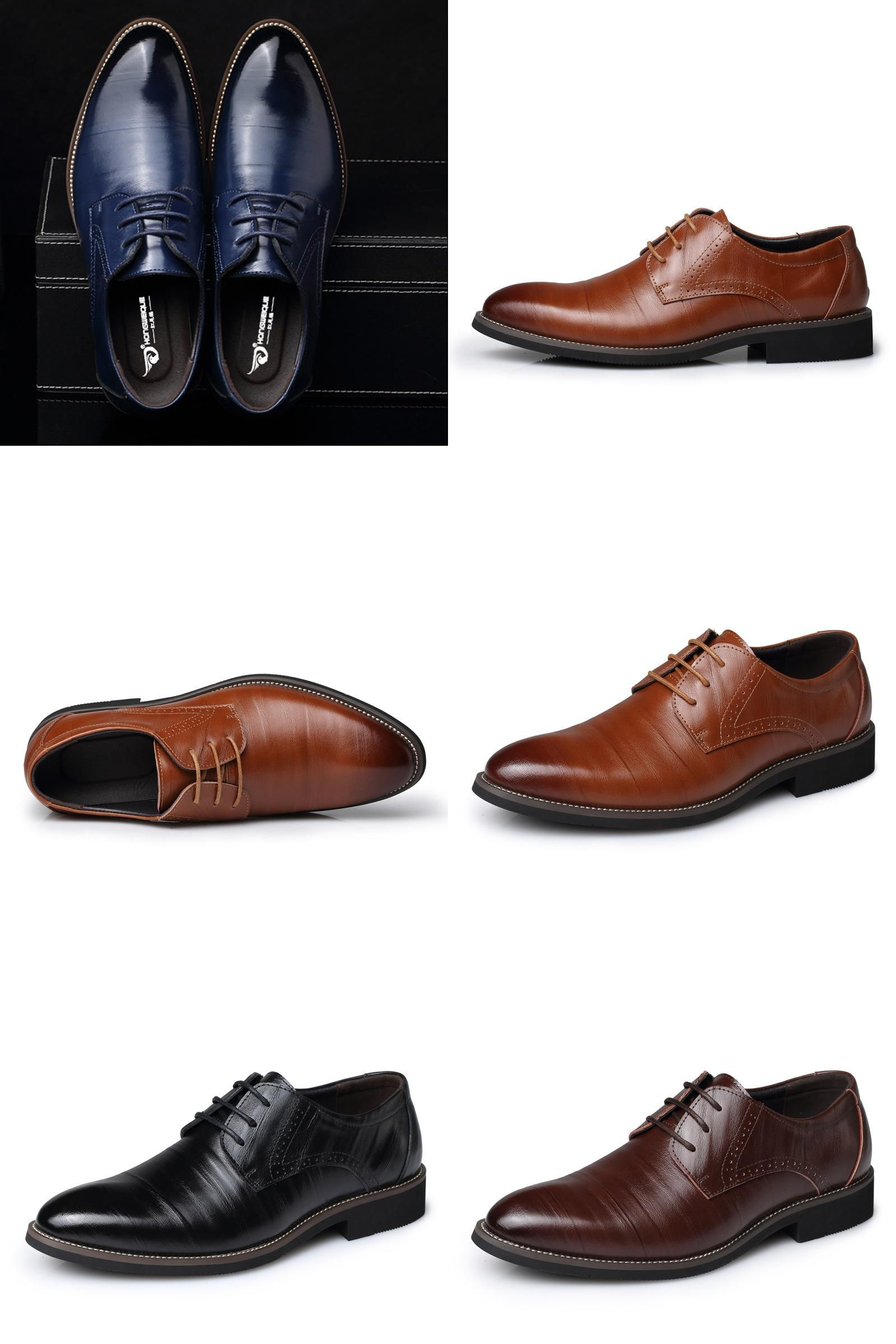 12446f905a7 Visit to Buy  Large size US 6.5-12.5 Fashion formal mens dress shoes ...