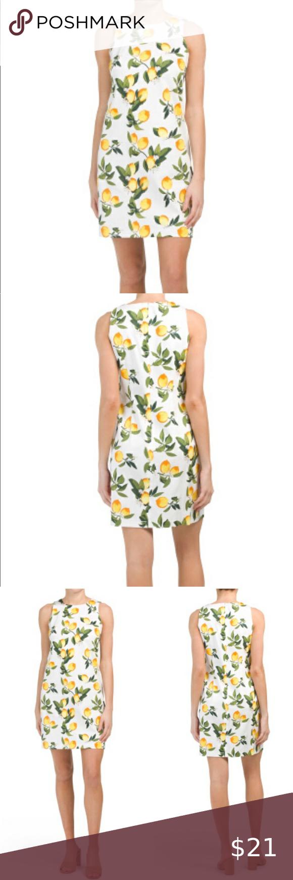 Nwt White Lemon Dress Lemon Dress Clothes Design Fashion [ 1740 x 580 Pixel ]