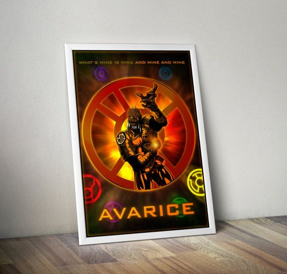 The Lantern Corps  Avarice 24x36 by FPArtistry on Etsy #GreenLantern #Avarice #AgentOrange #DCComics