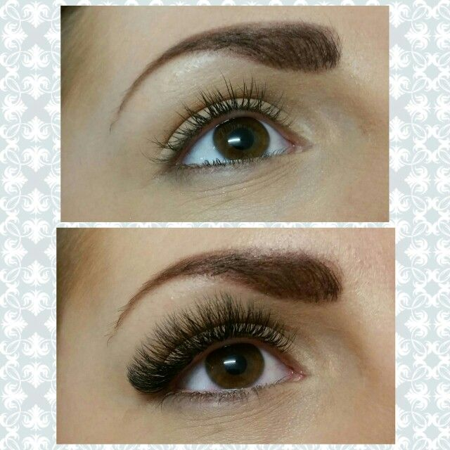 faf92772cee 4D Volume eyelash extensions or otherwise known as russian volume lashes on  gorgeous big brown eyes!