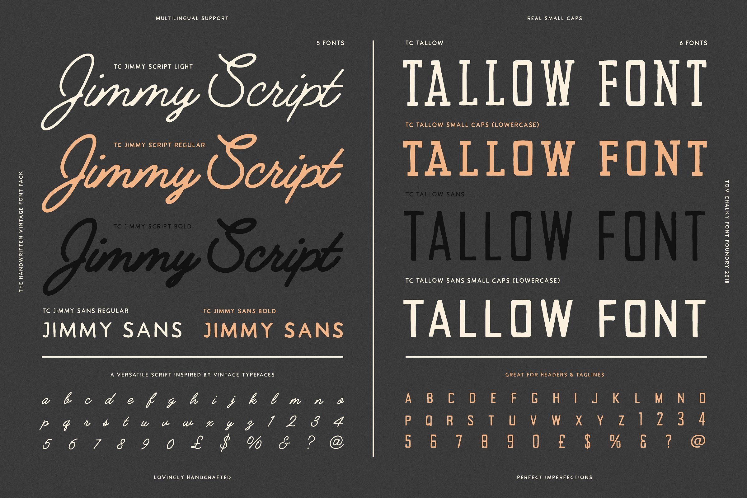 Download 19 Vintage Fonts Bundle & Extras | Vintage fonts, Font ...