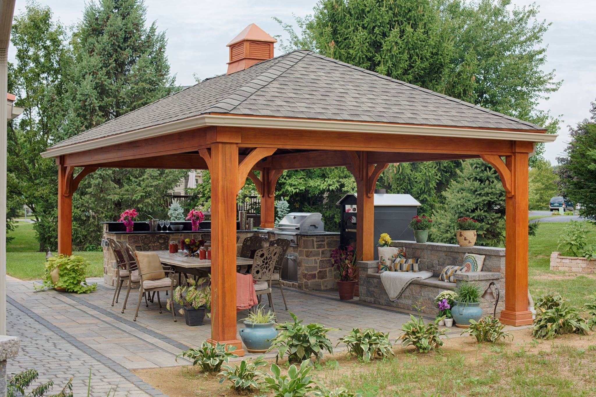 Check Out This Traditional Pavilion By Gazebo Com Backyard Pavilion Backyard Backyard Gazebo