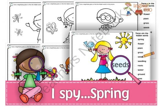 I spy ...Spring from Ingles360 on TeachersNotebook.com -  (10 pages)  - I spy... packs are a great way to get your kids reviewing and consolidating vocabulary while having fun!