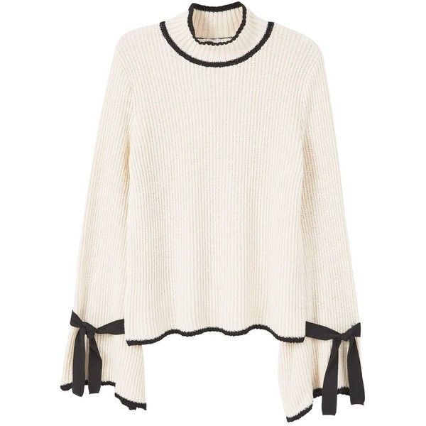 Mango Flared Sleeves Sweater (826.525 IDR) ❤ liked on Polyvore ...