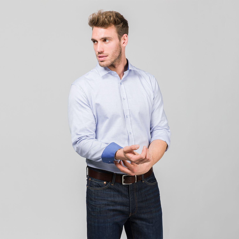 Hemd Oslo Extra Langer Arm 72 Cm Modern Fit Riesenhemd Hamburg Hemd Grosse Manner Blaues Hemd