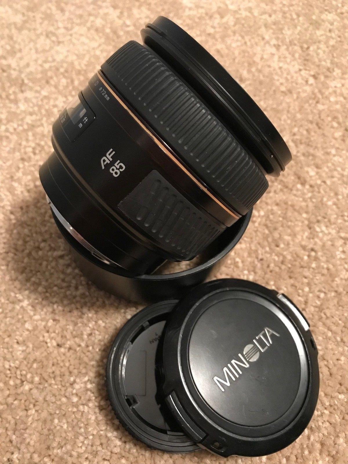 Minolta Maxxum 85mm F1 4 Af G D Camera Lens For Sony Alpha Mount