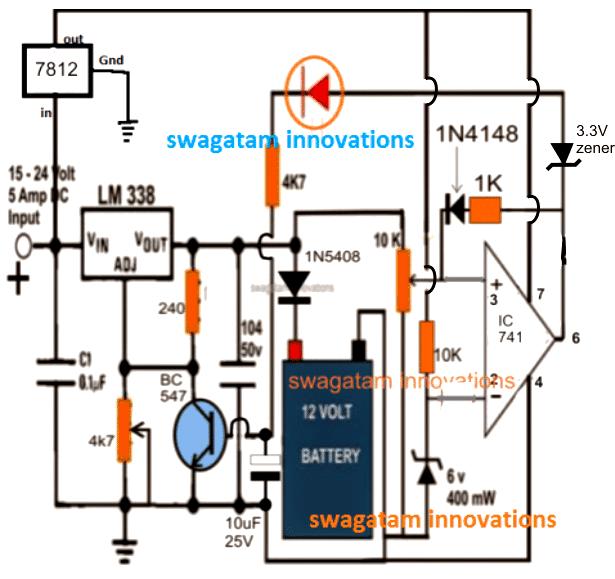 18v Cordless Drill Battery Charger Circuit Circuito Circuitos Electronica