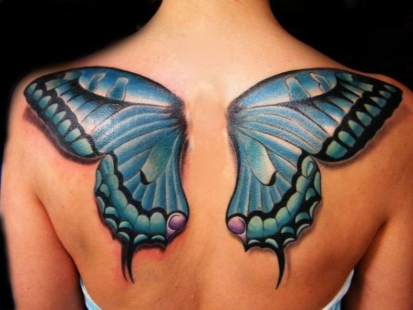 les tatouages de papillons sont parfait pour exprimer la libert tatouage. Black Bedroom Furniture Sets. Home Design Ideas