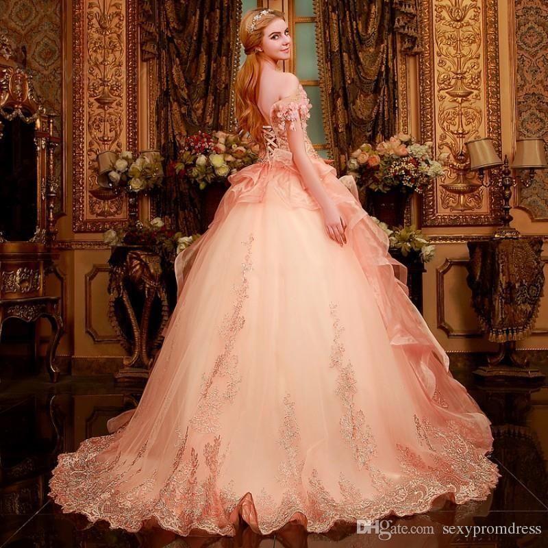 Vintage Wedding Dresses Perth: Vintage Pink Ball Gown Wedding Dresses 2015 Flowers