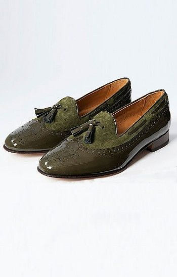 3b2df85249e37 House of Bruar Ladies Patent and Suede Tassel Loafer   a woman's ...