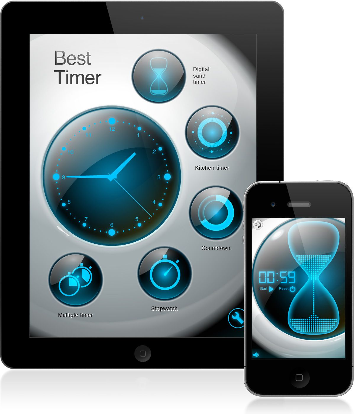 UI design for iPhone/iPad app Best Timer   Watch UI   Pinterest ...