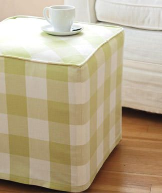Diy Home Decorating How To Make An Ottoman Cover At Womansday Com Ottoman Cover Home Diy Decor