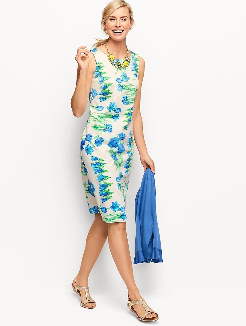 Classic Periwinkle Blue Knee Length Sheath Dress With Asymmetrical Shawl Collar Neckline Summer Bu Women Dresses Classy Dresses For Work Sheath Dresses Work [ 2577 x 1000 Pixel ]