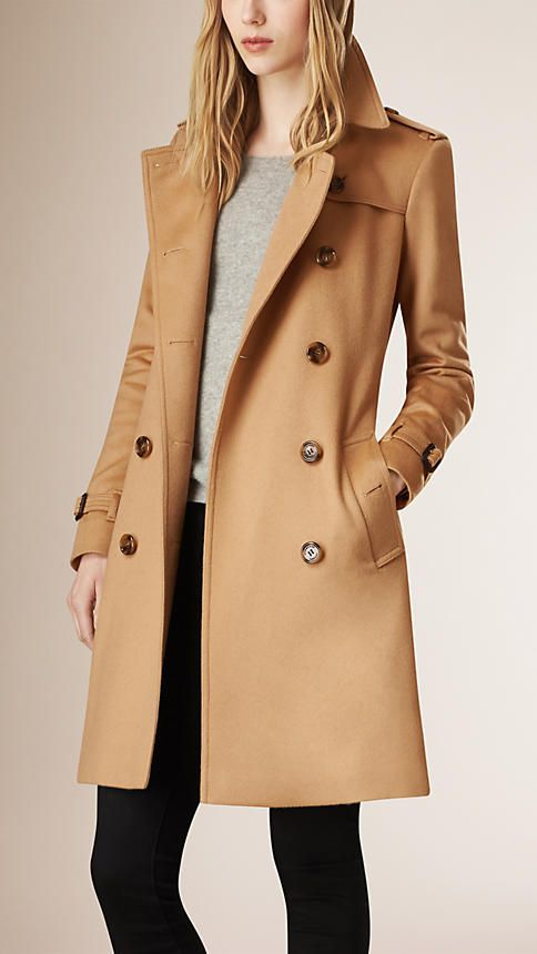 NEW WOMEN/'S LADIES LUXURY WOOL CASHMERE WARM WINTER DOUBLE BREASTED TRENCH COAT
