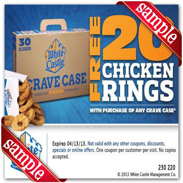 photograph regarding White Castle Printable Coupons titled White Castle Printable Coupon December 2016 Coupon codes For