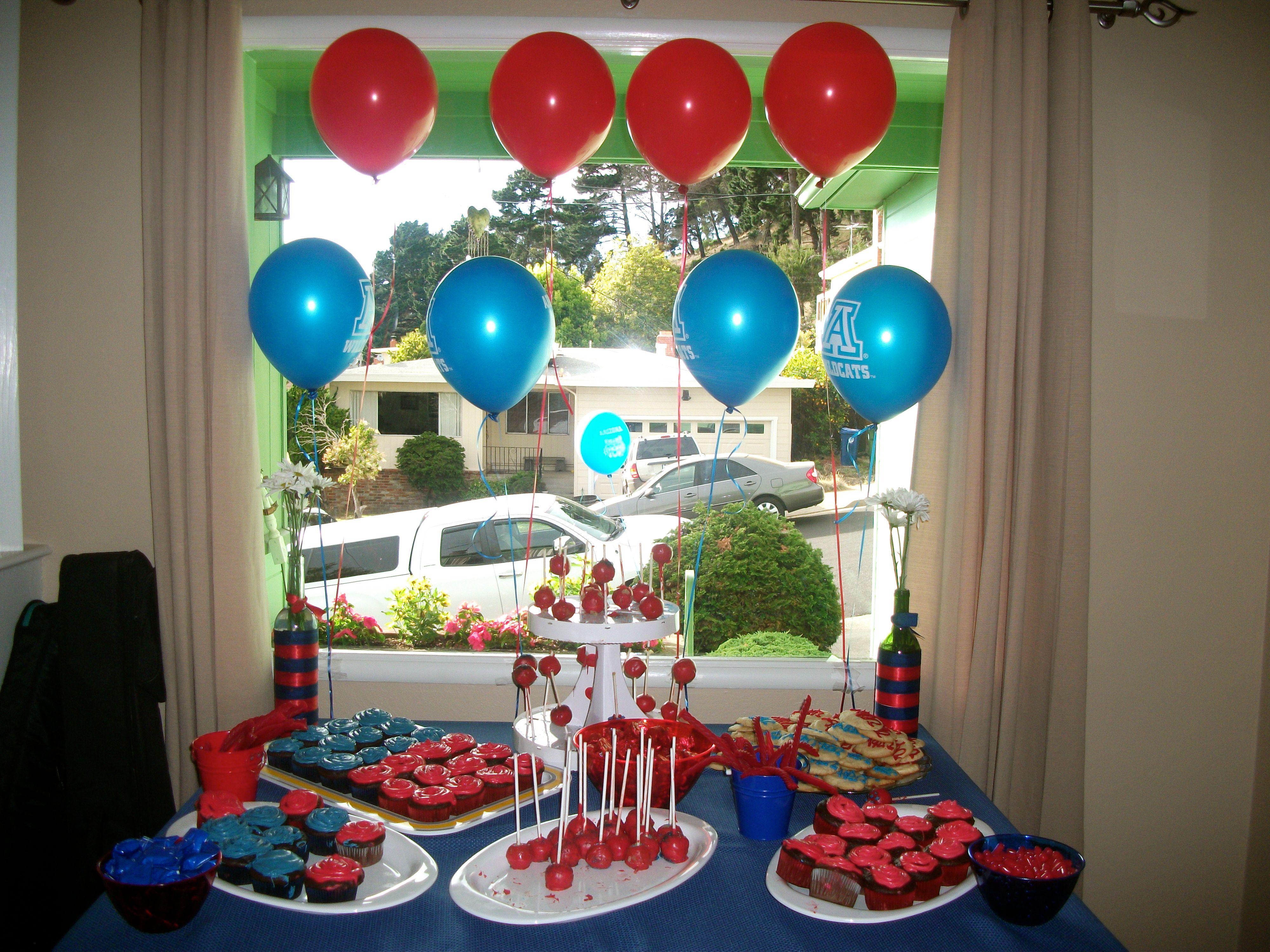 University of Arizona graduation party dessert table