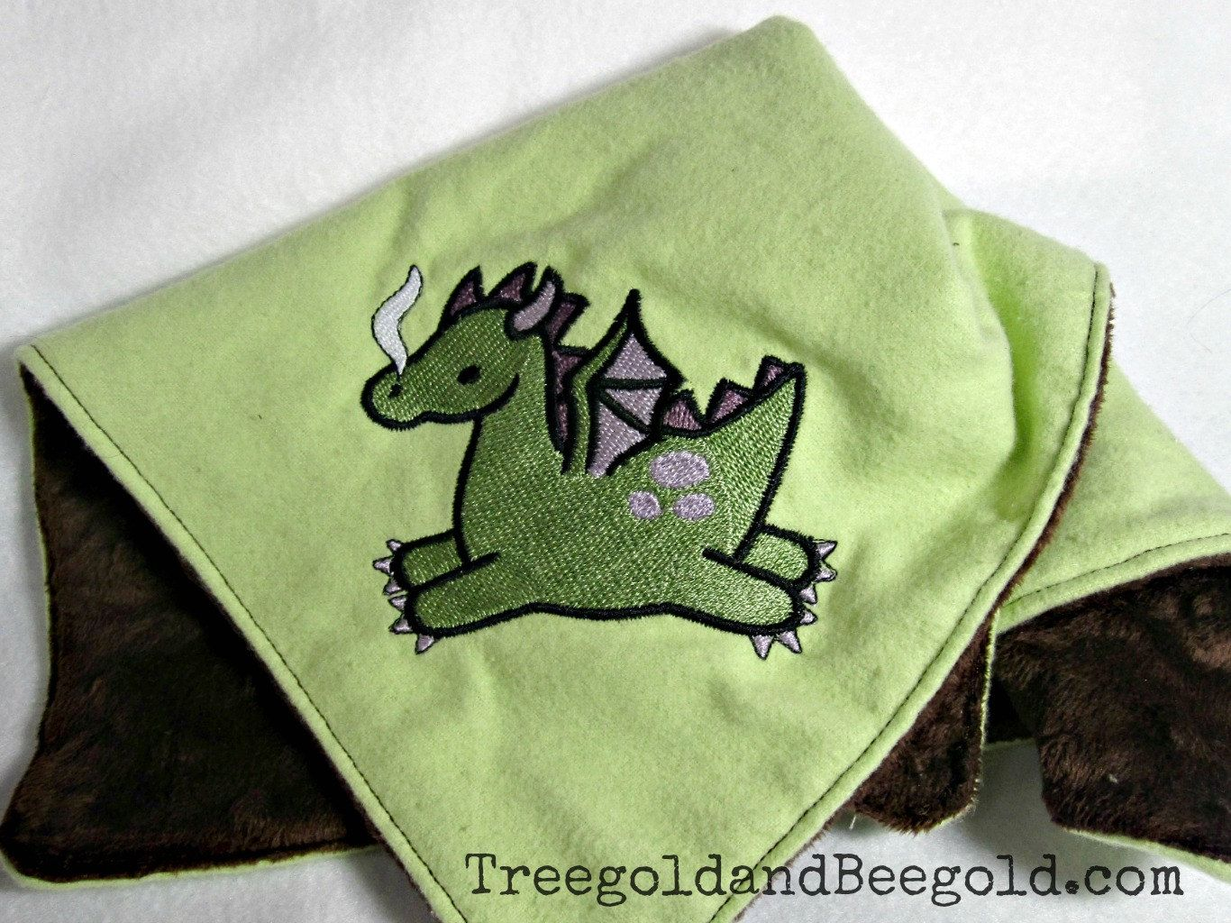 Dragon Embroidered Baby Security Blanket. $16.00, via Etsy ... - photo#45