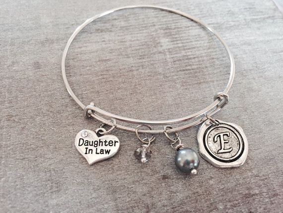 Daughter in law Silver Charm Bracelet Daughter in law by SAjolie