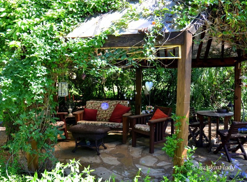 A Welcoming Gazebo Complete With Comfortable Seating Graces An Austin Tx Landscape Gazebo Urban Garden Design Urban Garden Garden Design