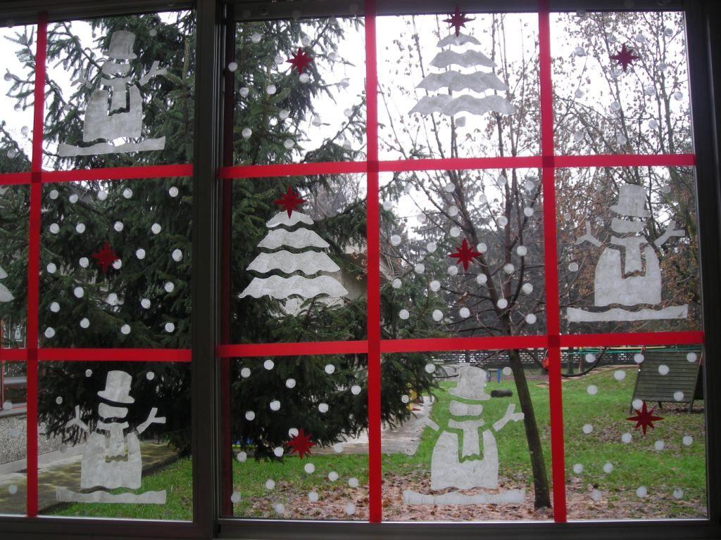 Finestre decorate natale alla scuola dell 39 infanzia pinterest natale decorazioni e infanzia - Finestre decorate per natale ...