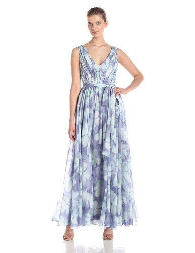 Vera Wang Women's Water Flower Printed Organza Over Charmeuse Lining. From $177.32