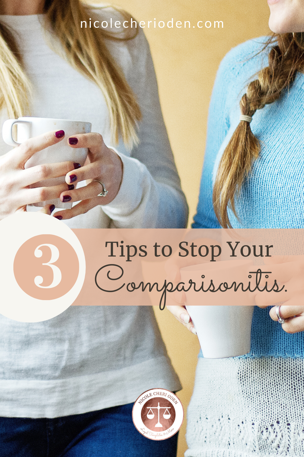 Comparisonitis can be overwhelming. We are sharing 3 tips to stop comparing yourself to others on the internet so that you can change your mindset and your business.  Head to the blog to learn more. #comparisonitis #mindset #comparisonisthethiefofjoy