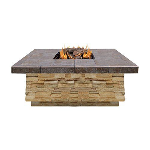 Natural Stone Propane Gas Fire Pit Finish Brown Cal Flame Https