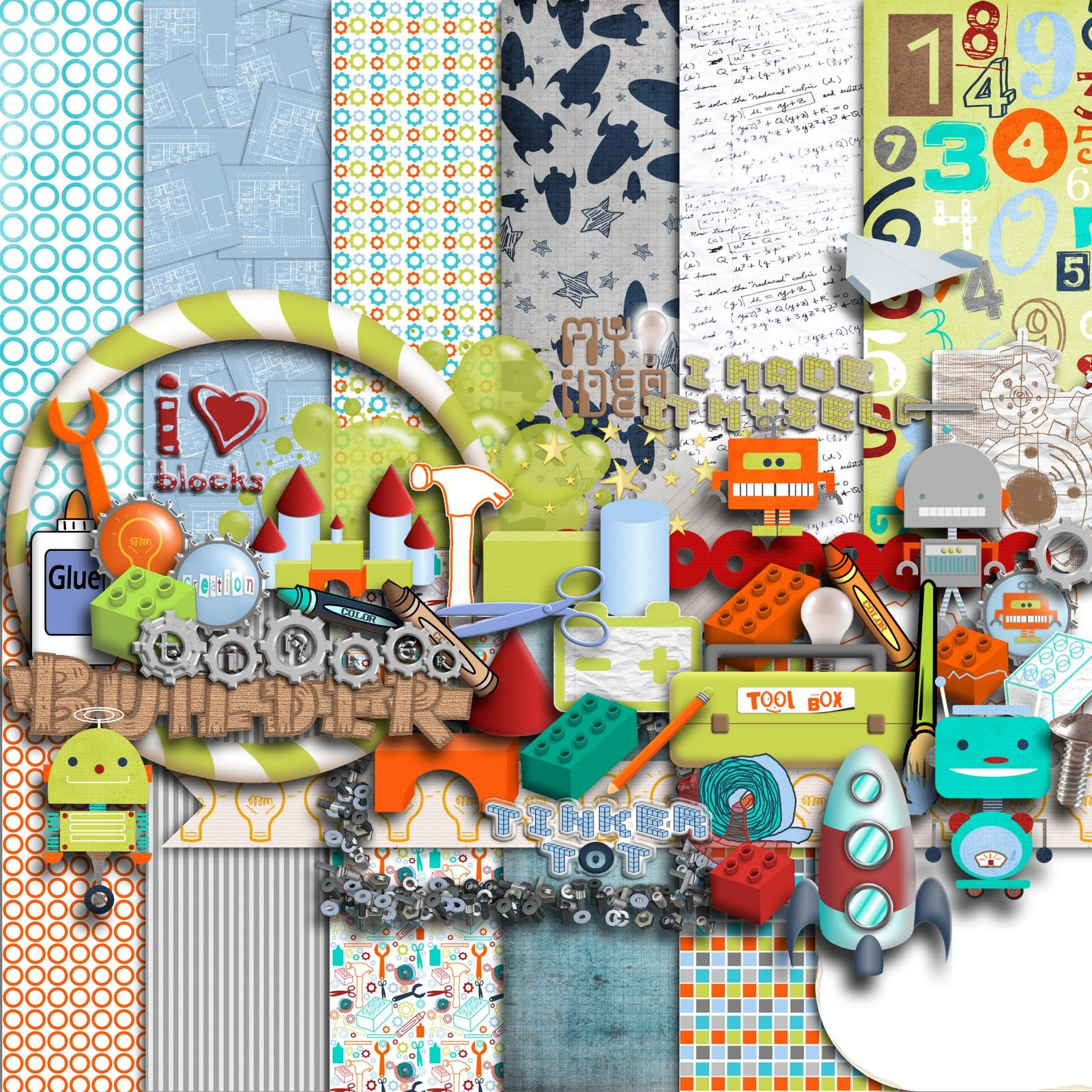Digital scrapbooking kits free all about scrapbooking ideas -  Tinker Free Digital Scrapbooking Kit