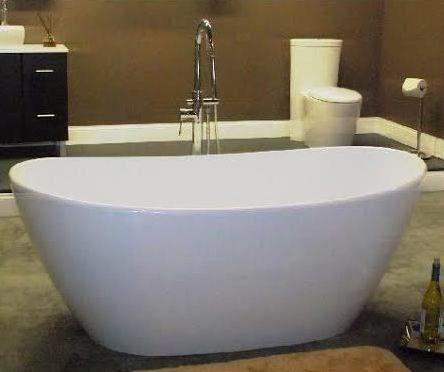 64 x 33 inch Cultured Marble Double Slipper Tub - Washington