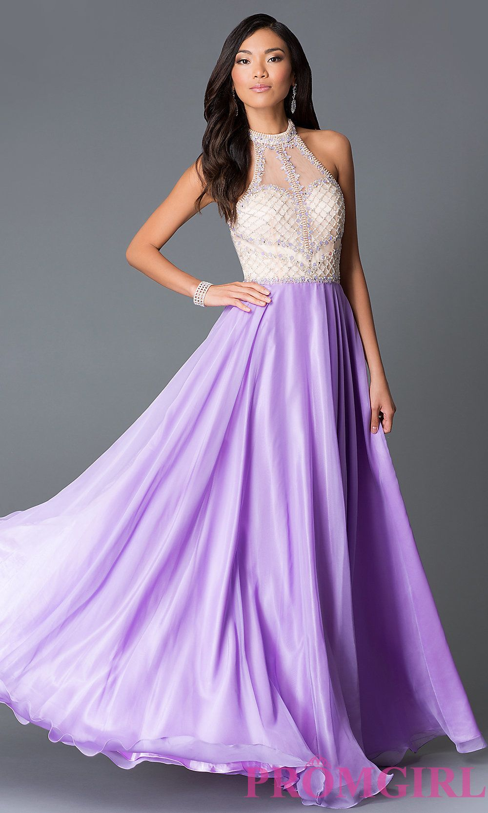 Wedding Lilac Prom Dresses na 8201l sheer back high neck long lilac prom dress dress