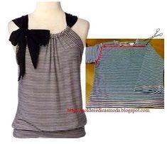 id es faciles pour transformer un vieux t shirt couture. Black Bedroom Furniture Sets. Home Design Ideas