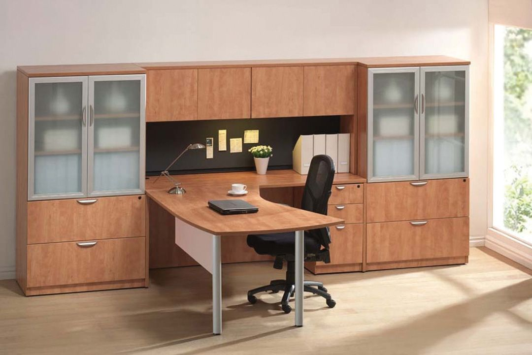 Premiera Pl Laminate Desk Included In Picture Is Curved Top With Gl Modesty Panel And