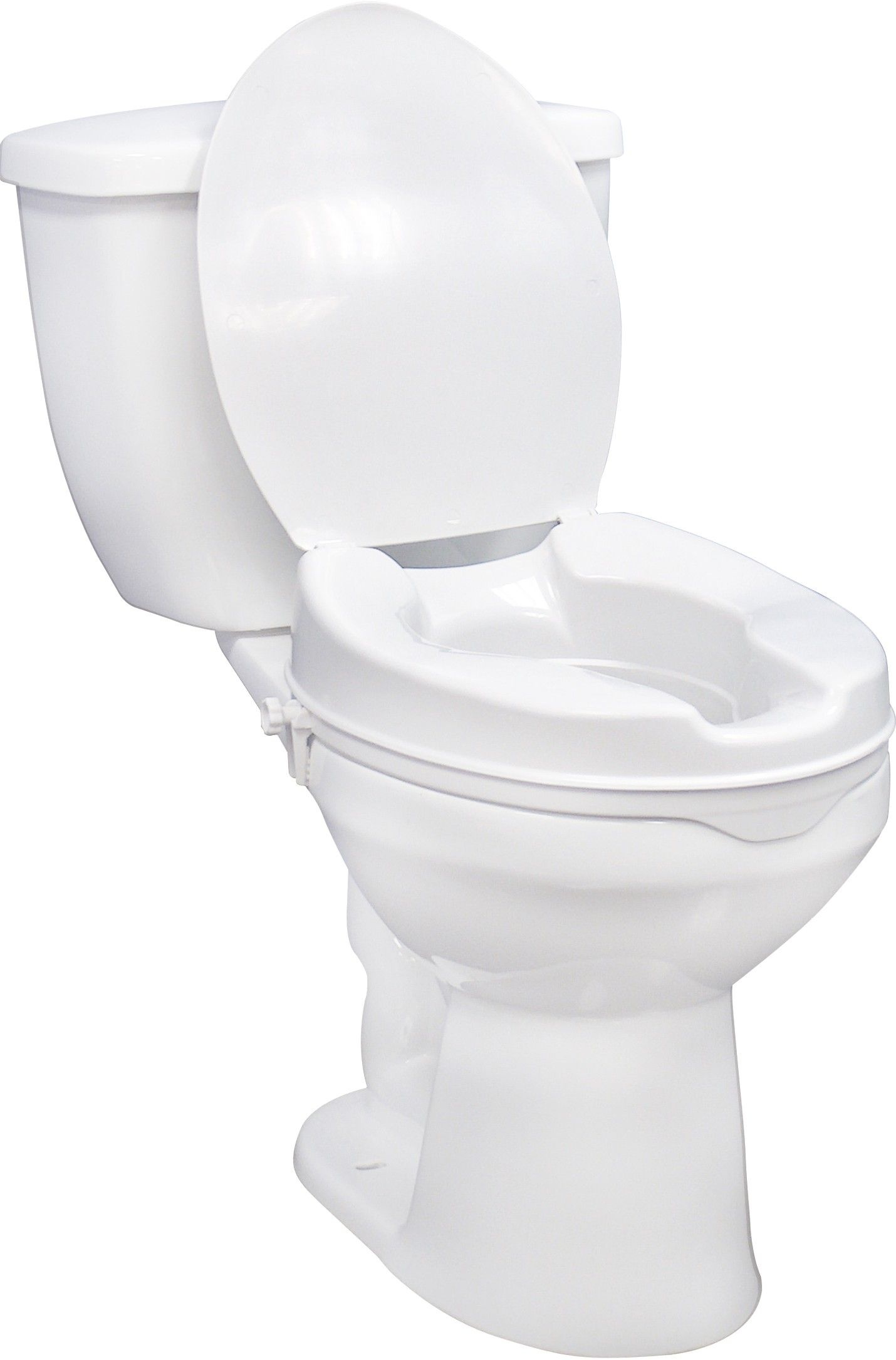 This Raised Toilet Seat With Lid Is Designed To Increase The
