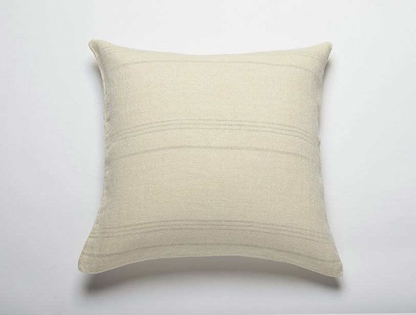 Stonewashing gives mellow color and cushy, comforting texture to our pillow, woven from thick yarns of pure European linen.