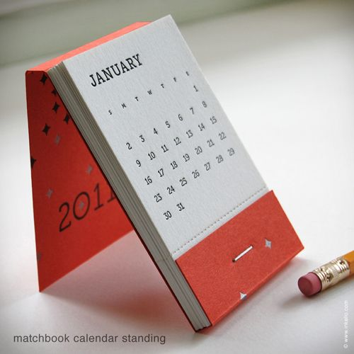 Great Calendar Ideas : Matchbook calendar from inkhello great for my co workers