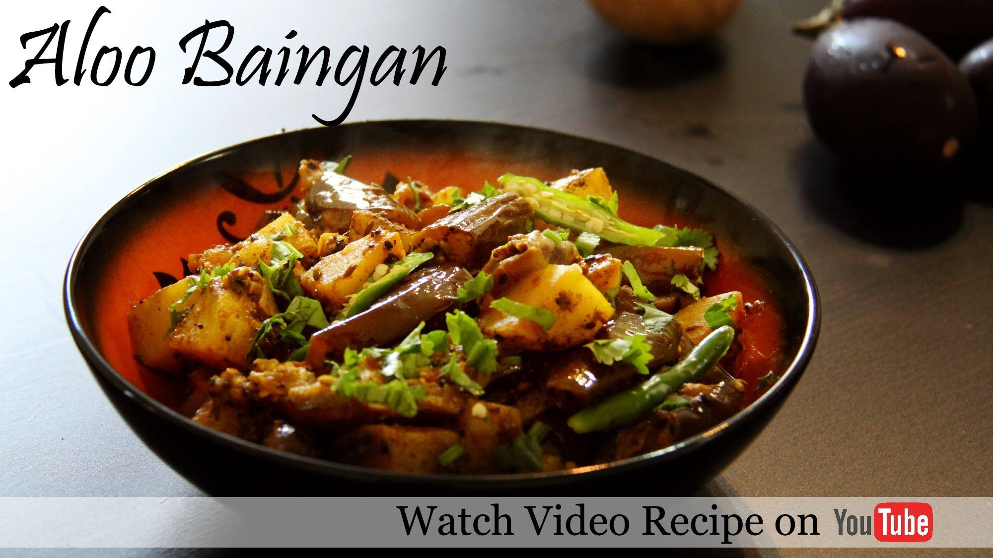 Aloo baingan recipe video potato eggplant brinjal recipes food aloo baingan recipe video forumfinder Images