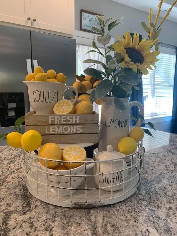 44 popular spring and summer kitchen decor ideas with images lemon kitchen decor spring on kitchen ideas decoration themes id=79212