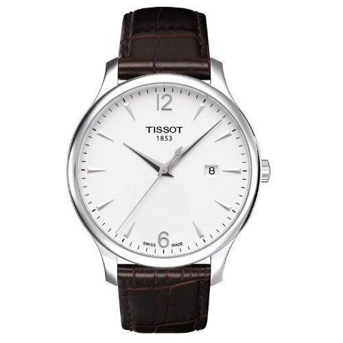 Tissot T Classic Tradition Silver Dial Brown Leather Mens Watch T0636101603700 $250.00