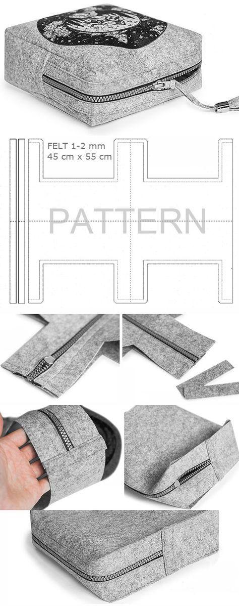 How to sew comfortable and beautiful cosmetic bag-nessesser. Tutorial DIY http://www.handmadiya.com/2017/05/travel-cosmetic-bag-tutorial.html