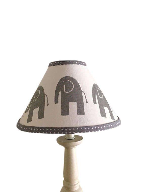 Grey white elephant lamp shade baby genderneutral grey polka dot grey white elephant lamp shade baby genderneutral grey polka dot elephant lampshade nursery aloadofball Gallery