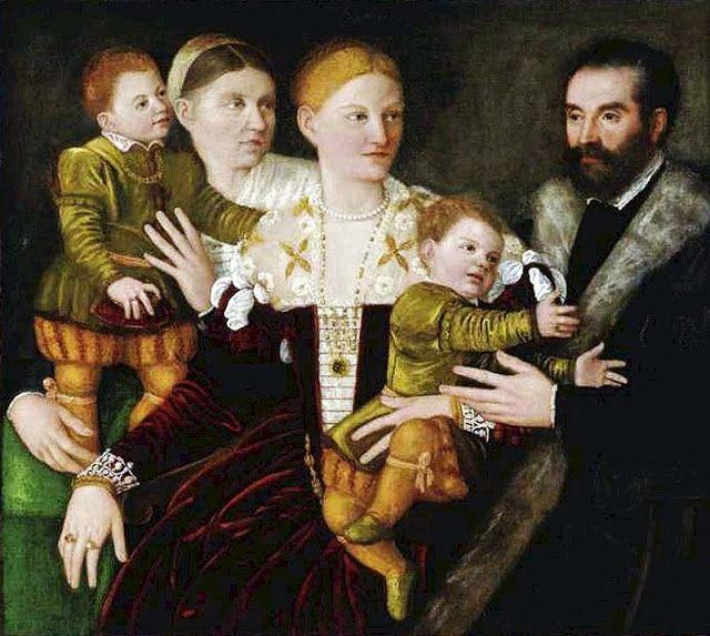 Bernardino Licinio (1489-1565) Portrait of a Family