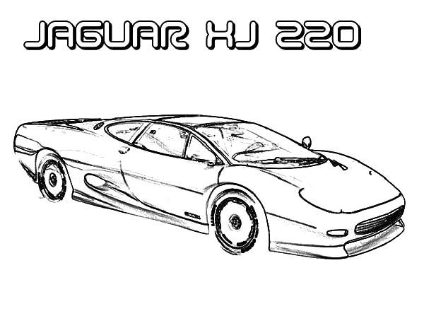 Jaguar Xj 220 Cars Coloring Pages Bulk Color Jaguar Xj Cars Coloring Pages Jaguar