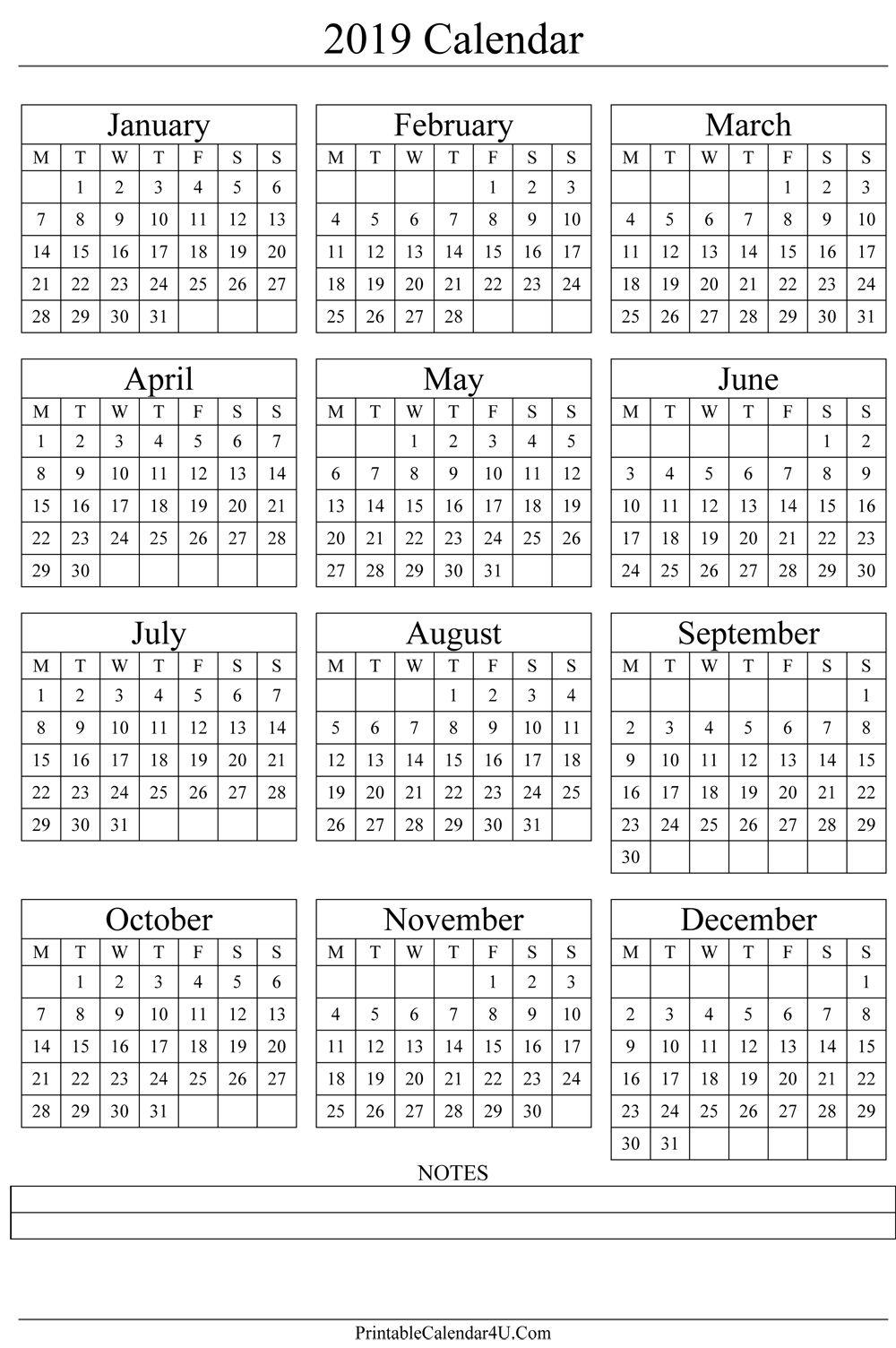 2018 Week Numbers
