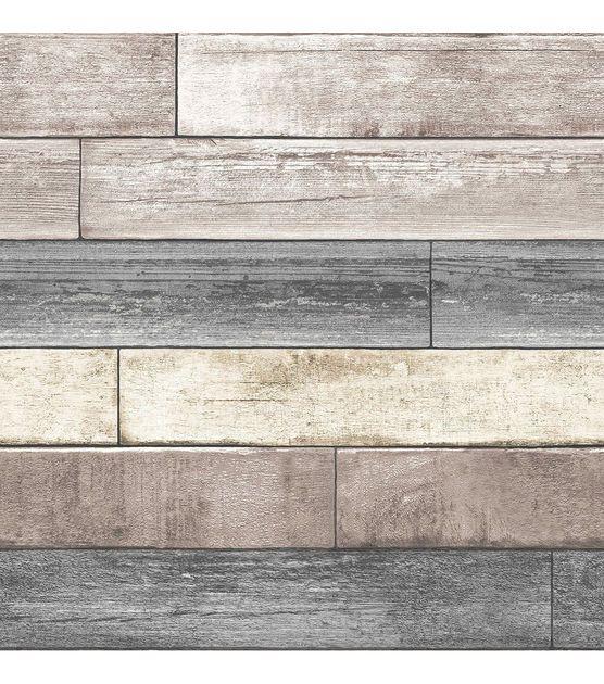 Wallpops Nuwallpaper Reclaimed Plank Wood Peel Joann S Craft Store Not Liking This One As M Reclaimed Wood Wallpaper Wood Wallpaper Wood Plank Wallpaper