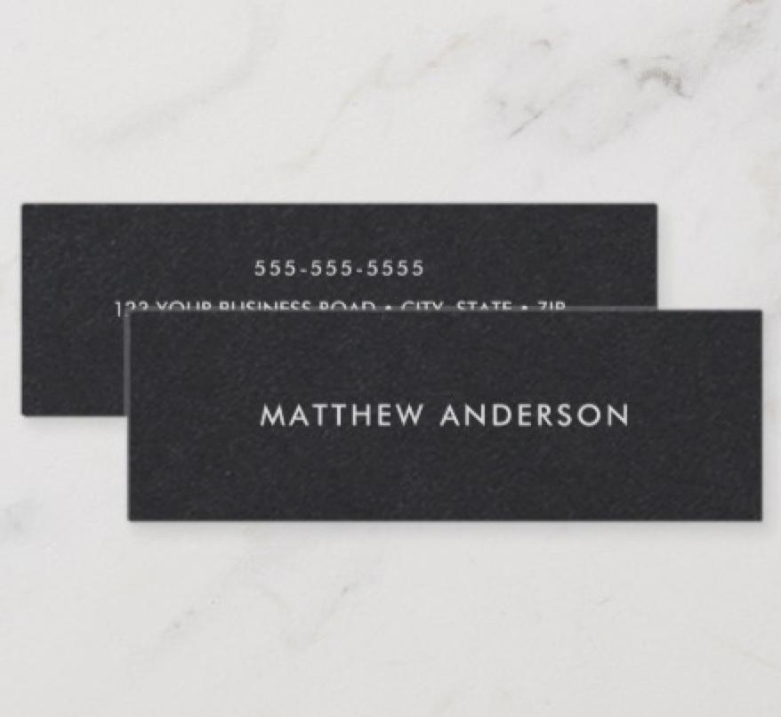 Bread Skinny Mini Business Card Zazzle Com Mini Business Card Business Card Template Printing Double Sided