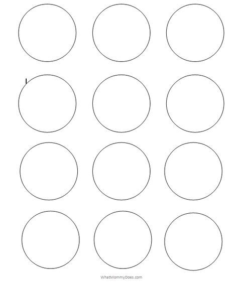 Free Printable Circle Templates Large Small Stencils Printable Circles Circle Template Printable Snowflake Template