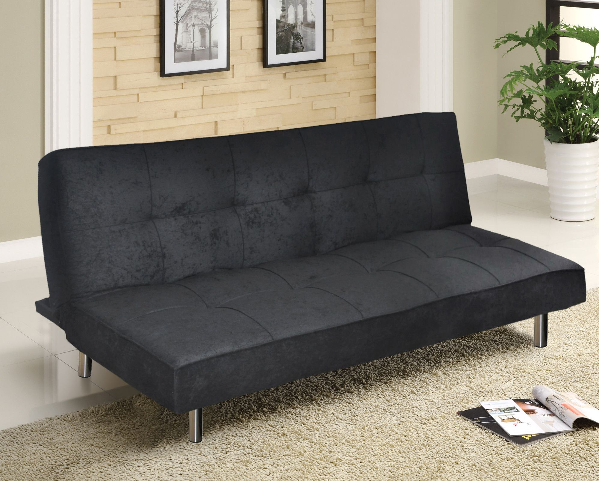 Urban Microfiber Convertible Sofa Apartment