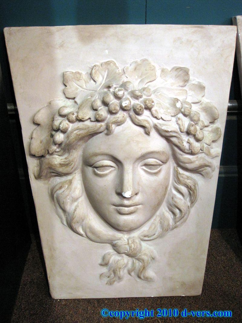 John delorean commissioned relief sculpture roman head